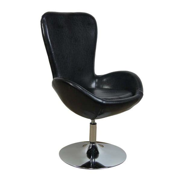 Černá židle Mauro Ferretti Girevole