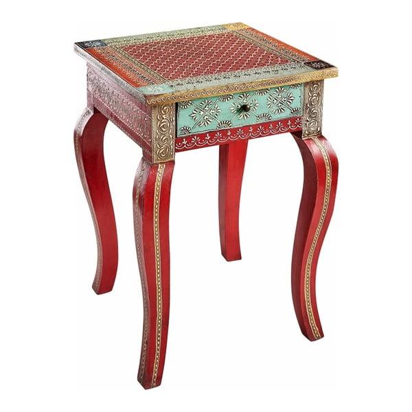 Vito piros színű kisasztal mangófából - Støraa