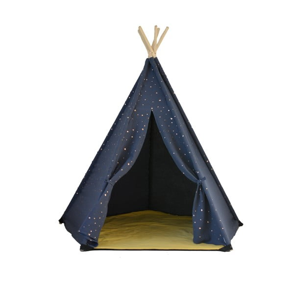 Cort teepee cu 5 laturi VIGVAM Design Vesper, albastru închis