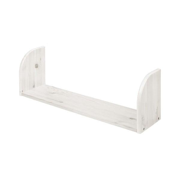 Biała półka z drewna sosnowego Flexa White, dł. 72 cm