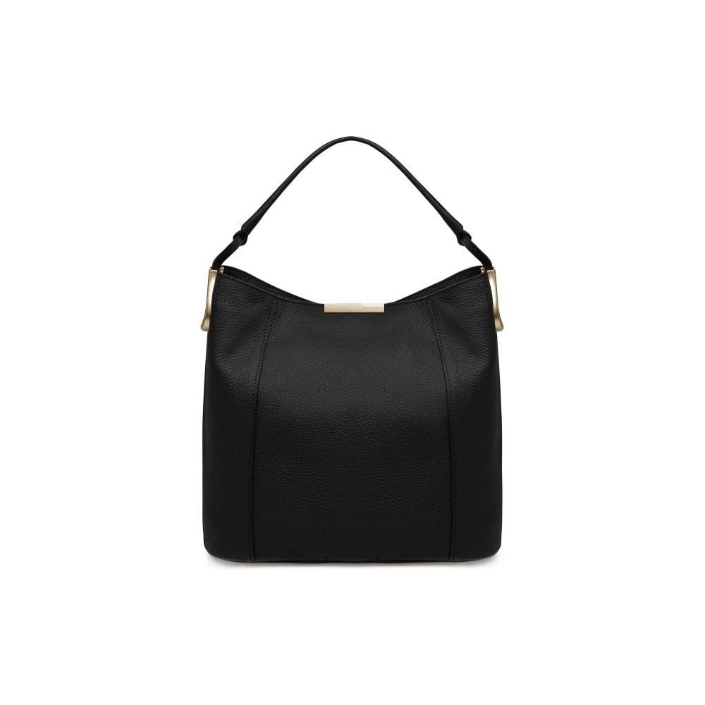 Černá kožená kabelka Laura Ashley Ryedale