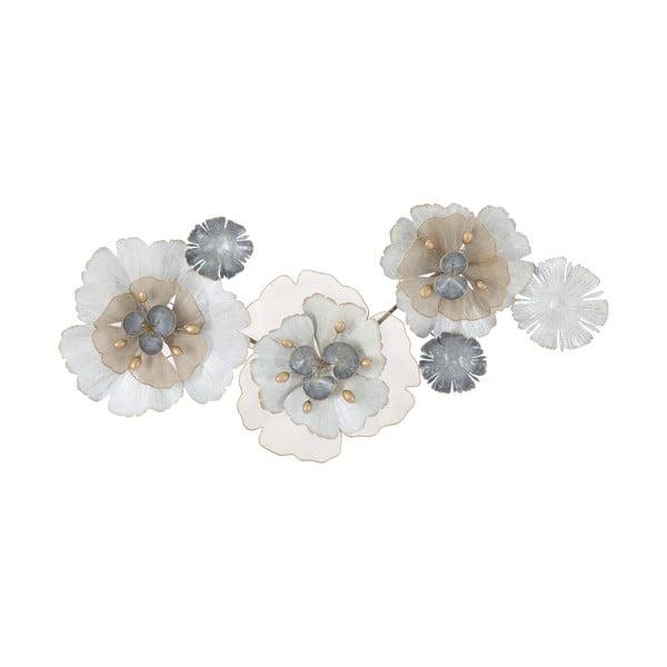 Nástěnná kovová dekorace Mauro Ferretti Flowery, 119x60cm