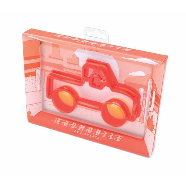 Formă pentru ouă în model de camion Luckies of London Eggmobile, roșu