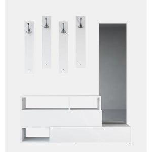Dřevěná sestava do předsíně Charles White, šířka 137 cm