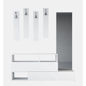 Set mobilier din lemn pentru hol Charles White, lățime 137 cm