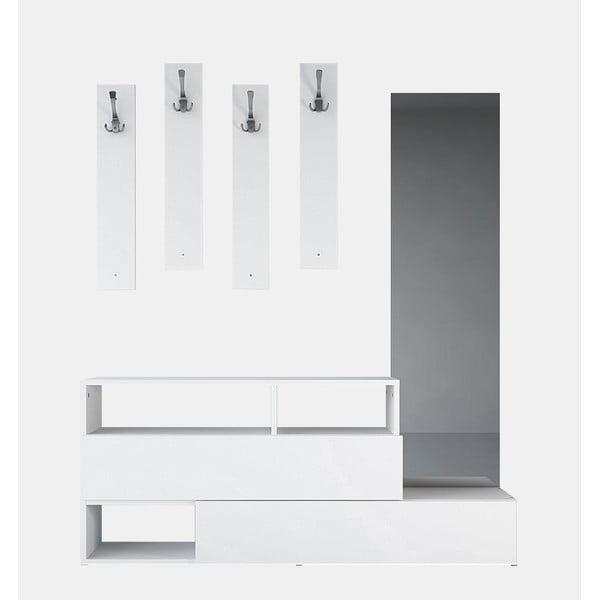 Drevená zostava do predsiene Charles White, šírka 137 cm