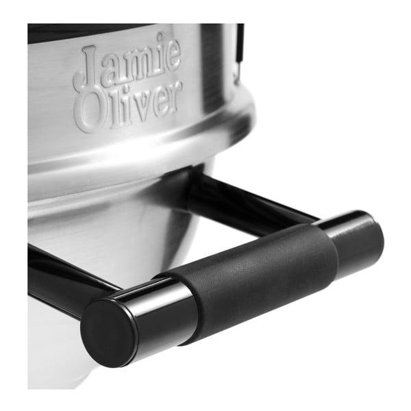 Černý gril s teploměrem a regulátorem přívodu vzduchu Jamie Oliver All Rounder
