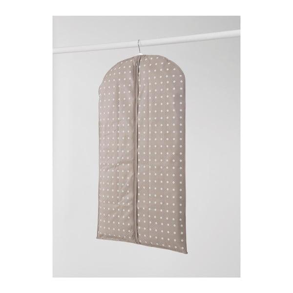 Béžový obal na šaty Compactor Dots, 100cm