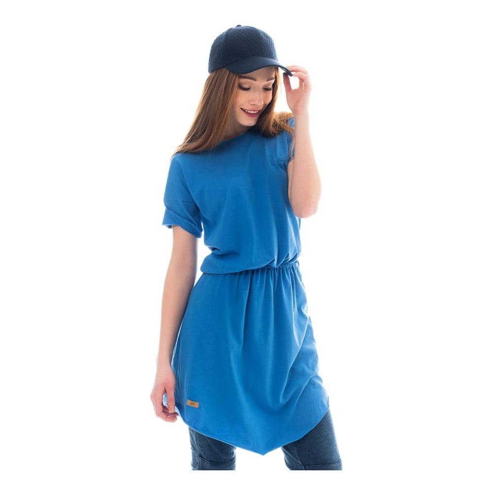 Modré bavlněné šaty Lull Loungewear Arona 1f9f8be864