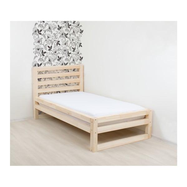 Drevená jednolôžková posteľ Benlemi DeLuxe Natura, 200 × 90 cm