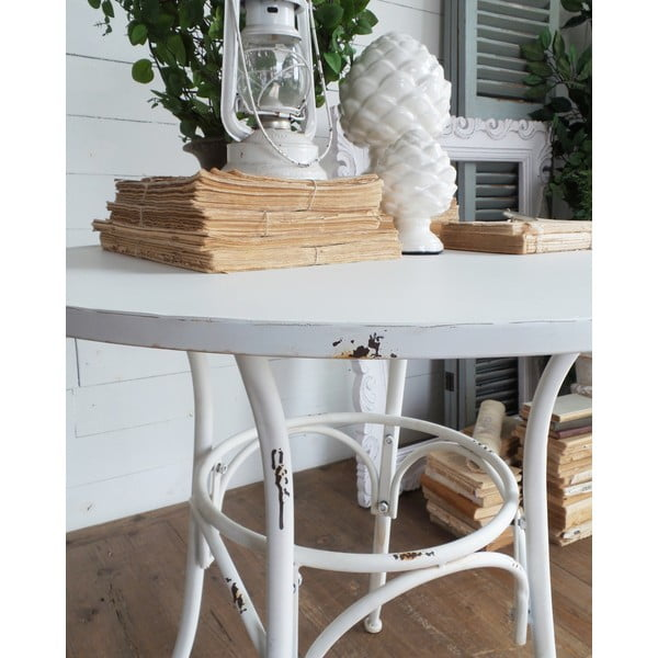 Kovový stolek Oldie White