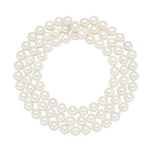 Lănțișor cu perle albe  ⌀ 8 mm Perldesse Muschel, lungime 80 cm
