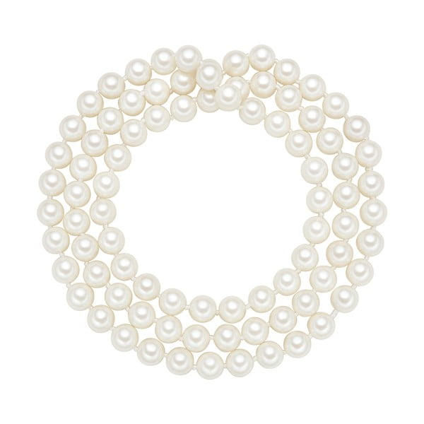 Perlový náhrdelník Muschel, bílé perly 8 mm, délka 80 cm