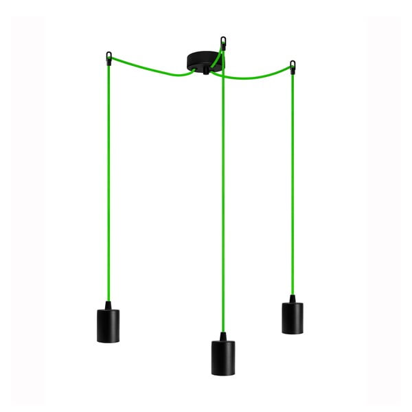 Tři závěsné kabely Cero, zelená/černá