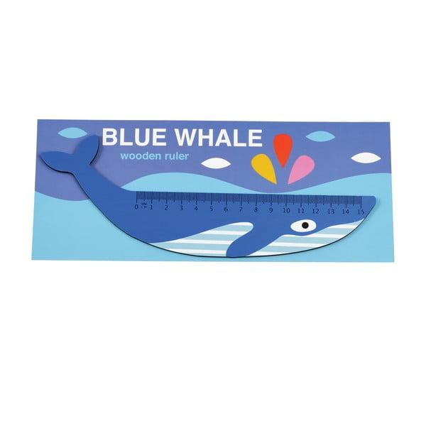 Dřevěné pravítko ve tvaru velryby Rex London Blue Whale