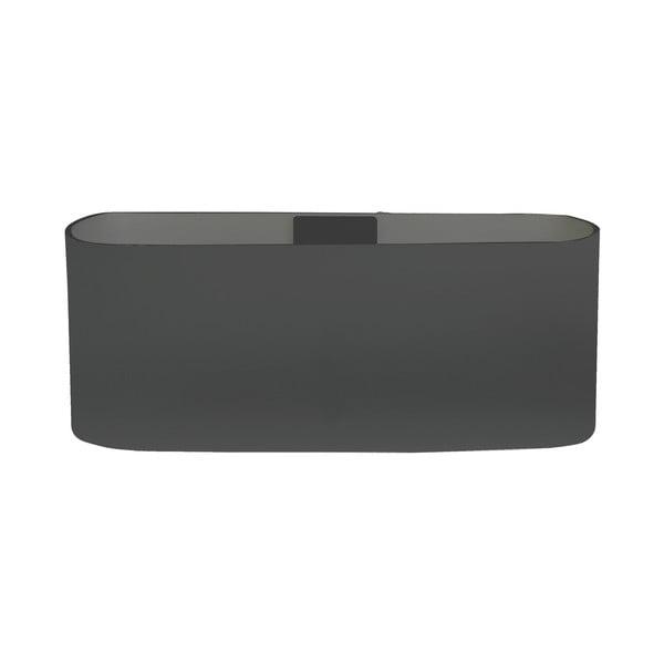 Magnetický květináč Truhlík 23x9x12 cm, tmavě šedivý