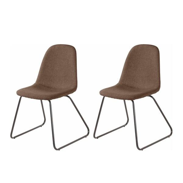 Sada 2 hnědých jídelních židlí Støraa Colombo