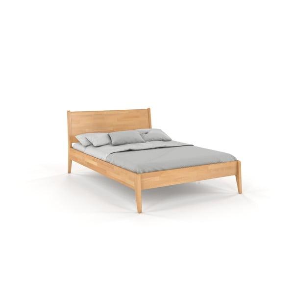 Dvojlôžková posteľ z bukového dreva Skandica Visby Radom, 160 x 200 cm
