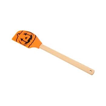 Spatulă silicon cu mâner din lemn Dexam Pumpkin