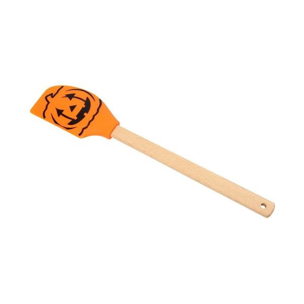 Silikónová stierka s drevenou rukoväťou Dexam Pumpkin