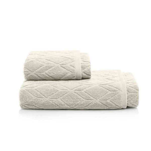 Set šedobéžové osušky a ručníky Maison Carezza Venezia