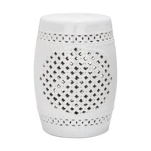 Bílý keramický stolek Safavieh Marbella