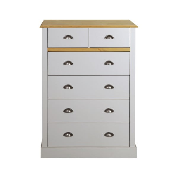 Comodă Steens Sandringham, 107 x 78 cm, gri alb