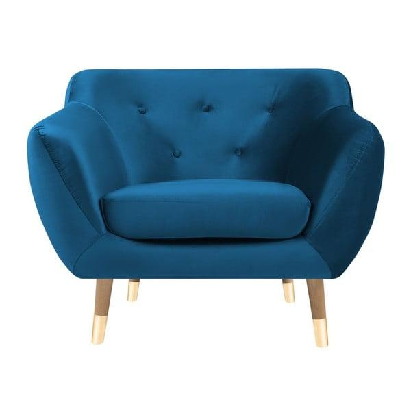 Modré křeslo Mazzini Sofas Amelie