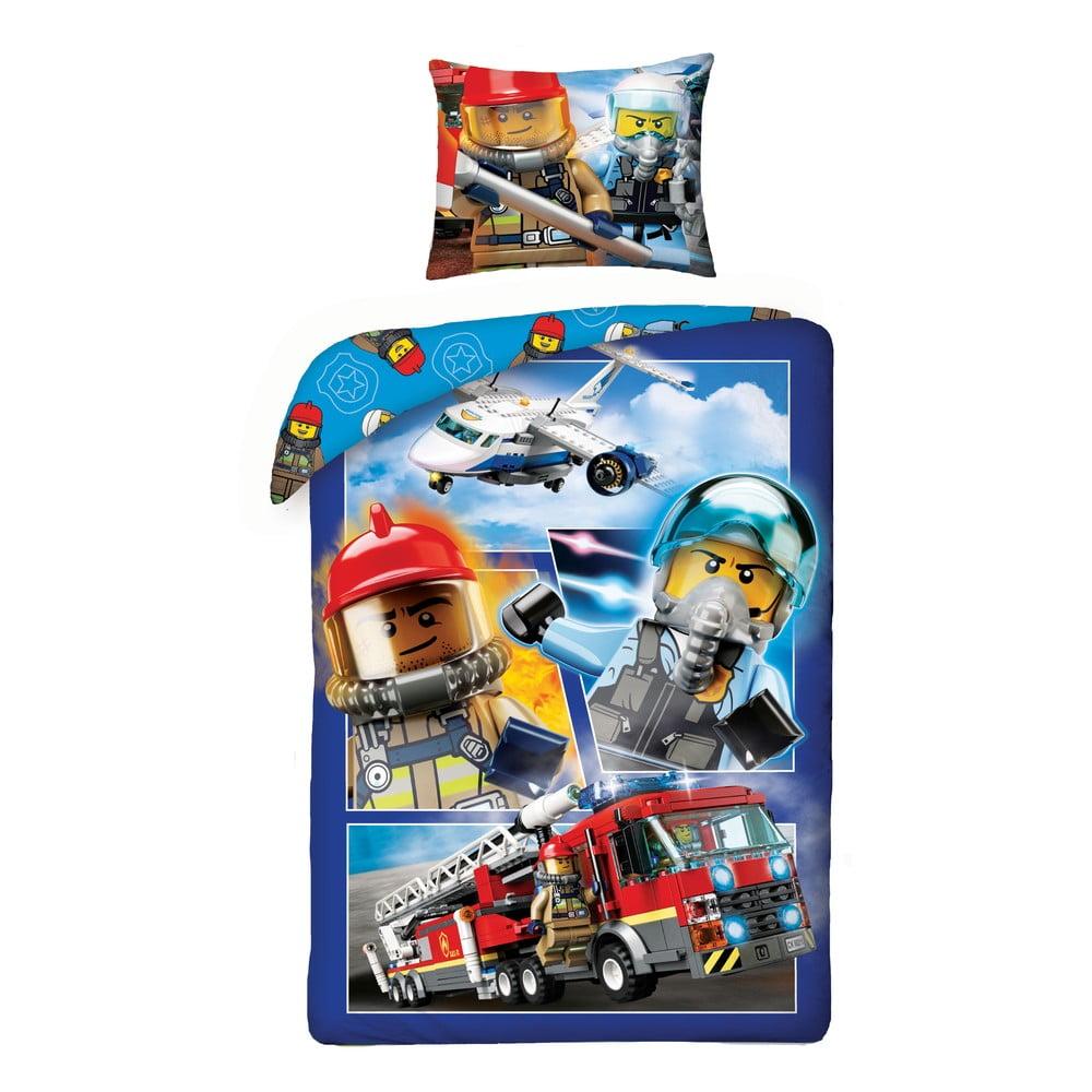 Dětské bavlněné povlečení Halantex Lego City, 140 x 200 cm