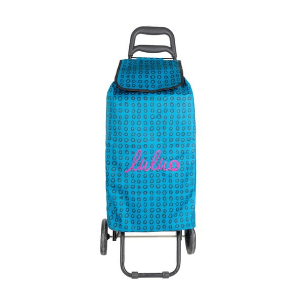 Niebieska torba na zakupy na kółkach Lulucastagnette Ridey, 37 l
