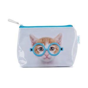 Malá kosmetická taška Glasses Cat