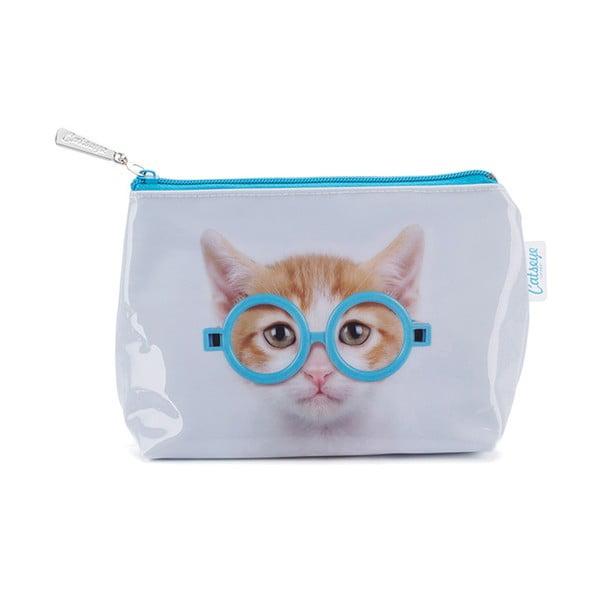 Malá kosmetická taštička Catseye London Glasses Cat