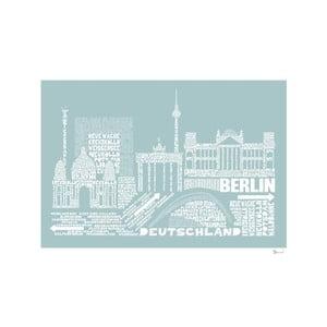 Plakát Berlin Blue&White, 50x70 cm