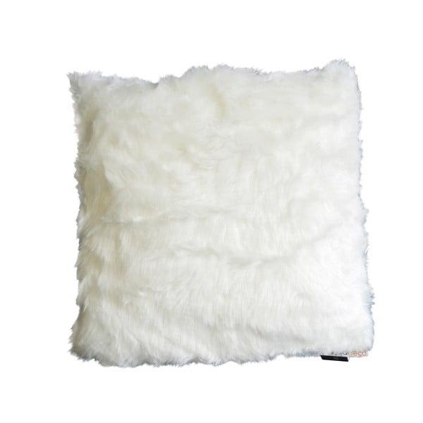 Chlupatý polštář Fury, bílý