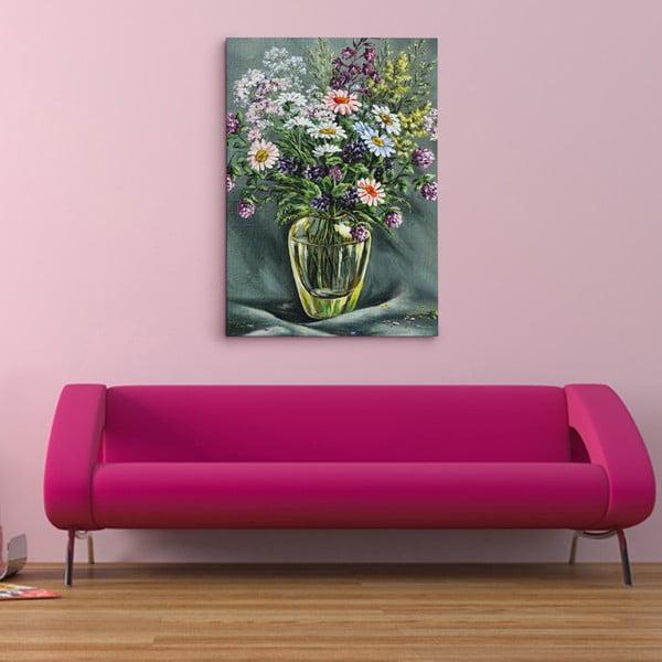 Obraz na plátně Luční květiny, 50x70 cm