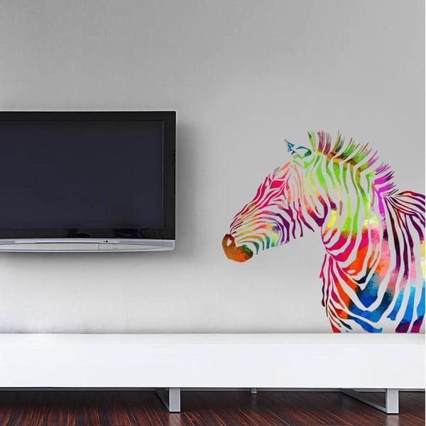 Samolepka Color Zebra, 70x50 cm