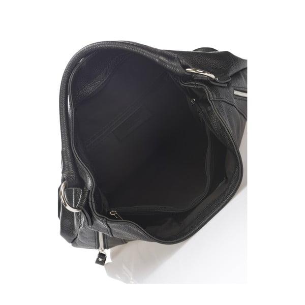 Geantă din piele Markese Savino, negru