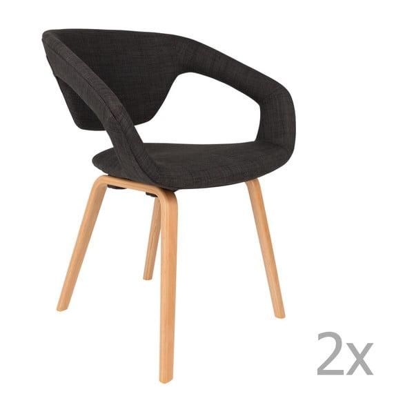 Set 2 scaune Zuiver Flexback, negru