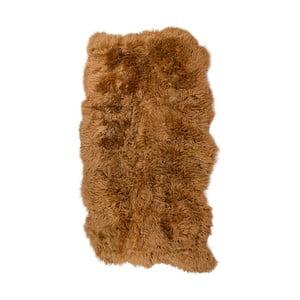 Hnědý kožešinový koberec s dlouhým chlupem Arctic Fur Hanna, 180x120cm