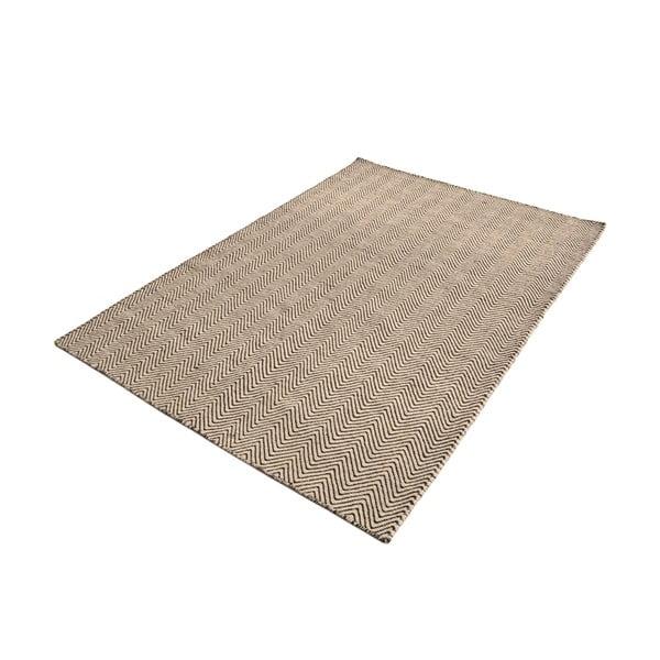 Ručně tkaný koberec Brown and White Kilim, 153x216 cm