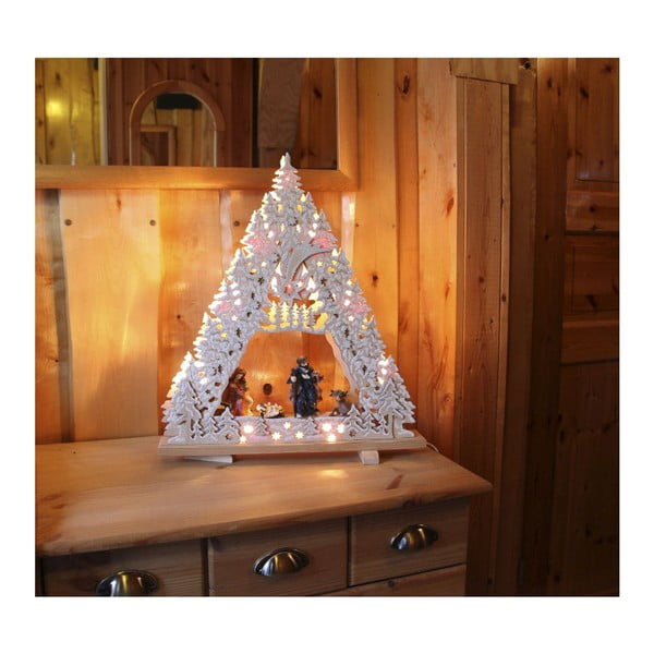 Svítící dekorace Nativity with Glitter