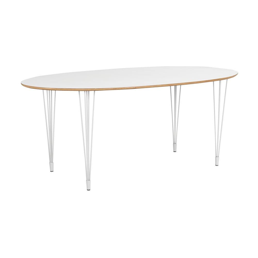 Bílý jídelní stůl Rowico Aabel