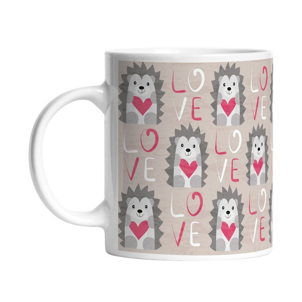 Keramický hrnek Hedgehog in Love, 330 ml