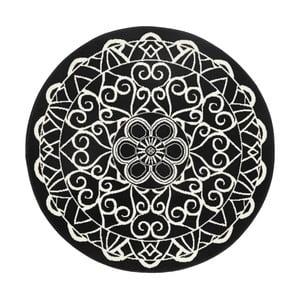 Černý kulatý koberec HanseHomeMandala