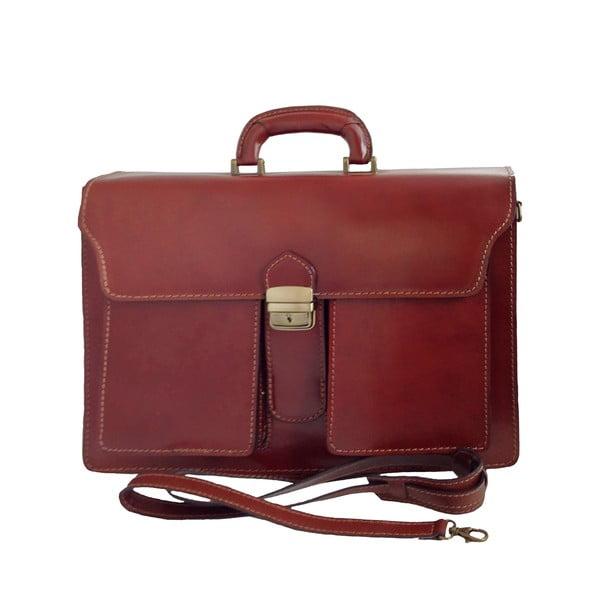 Kožený kufřík Avola, čokoládový