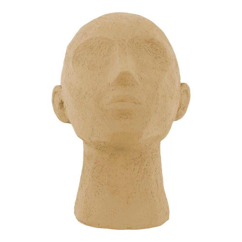Pískově hnědá dekorativní soška PT LIVING Face Art, výška 22,8 cm