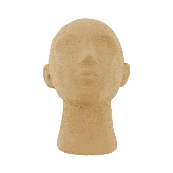 Statuetă decorativă PT LIVING Face Art, înălțime 22,8 cm, maro nisip