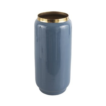 Vază cu detalii aurii PT LIVING Flare, înălțime 27 cm, albastru de la PT LIVING