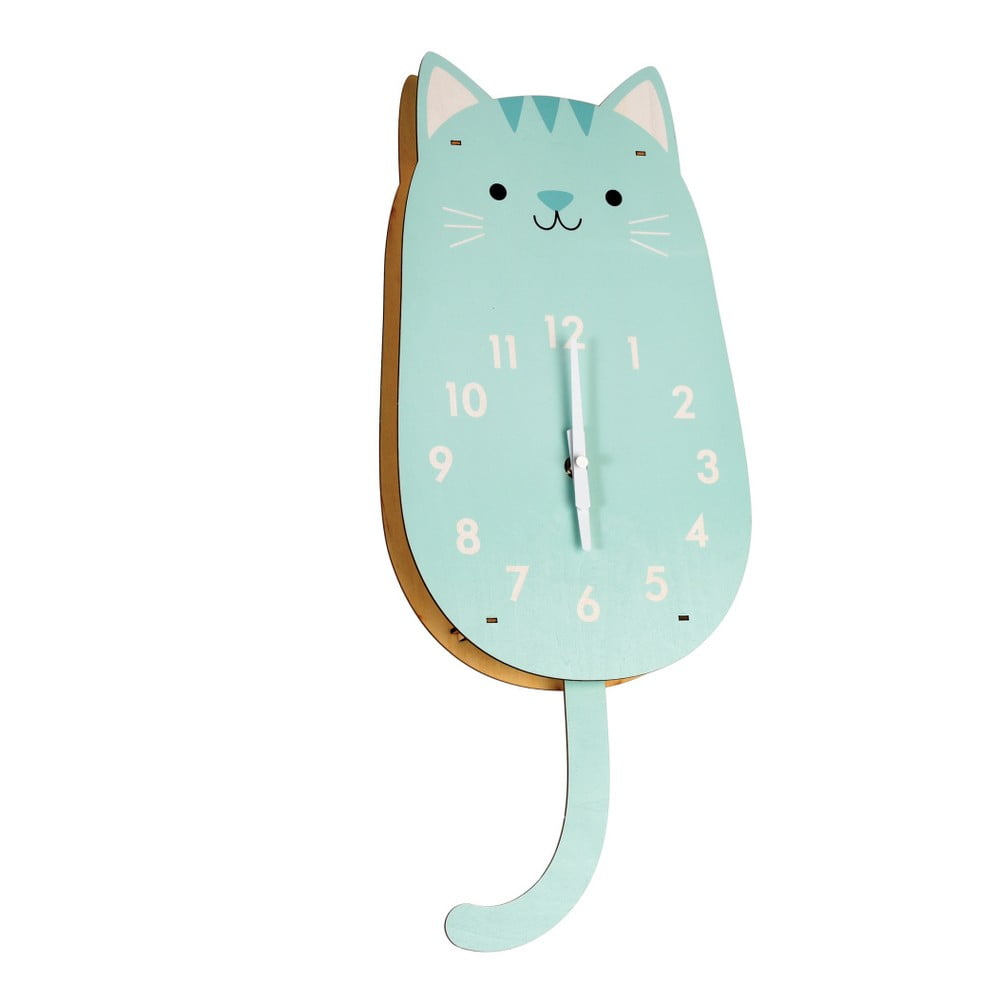 Dřevěné hodiny Rex London Cookie The Cat