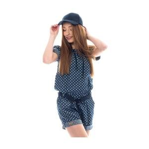Salopetă din bumbac Lull Loungewear Overy Blum, măr. M, albastru